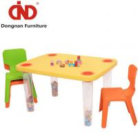 China Plastic Childrens Sized Table and Chairs for Kids Plastic Deck Folding Play Table Set on sale
