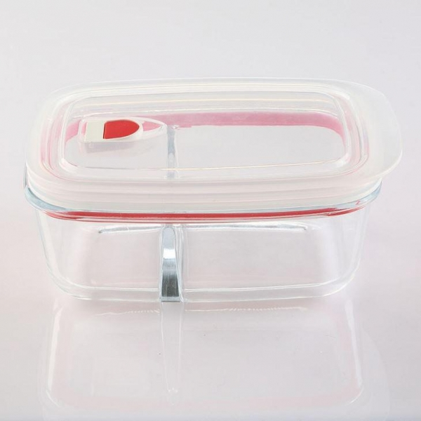 Quality Glass Food Storage Container With Compartment for sale