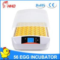 Quality HHD newest model full automatic turning 56 eggs incubator for sale