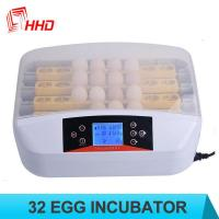Quality HHD 32 eggs price microbiology incubator automatic computer control incubator for sale