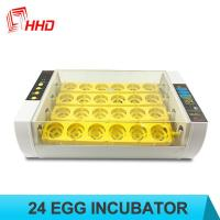 Quality HHD 98% Hatching rate Factory price Full automatic 24 chicken egg incubator for sale