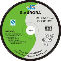 Quality Customized 6 Inches Aluminum Oxide Abrasive Metal Flat Abrasive Cutting Disc for sale