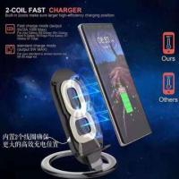 Quality Hot Selling Double Coils Double Coil Quick Charge Qi Wireless Cell Phone Charging Station for sale