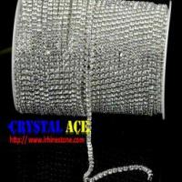 China Sparkle Crystal chain trimming , rhinestone cup chain wholesale china on sale